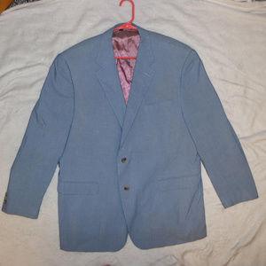 Alan Flusser Blue SUIT BLAZER Silk Cotton Blend